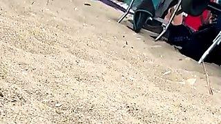 Action at gunnisson Beach NJ Girs