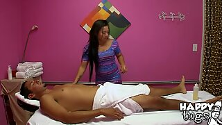 Guy starts fucking right inside massage saloon