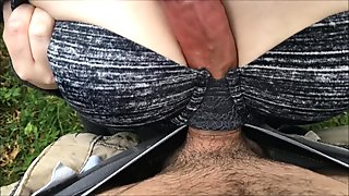 Public POV Titfuck And Handjob Fully Clothed. Horny While Out For A Drive.