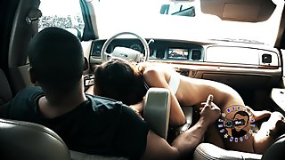RAINY DAY CAR HEAD AND SEX WITH SLIM THICK LATINA ALMOST CAUGHT PART 2