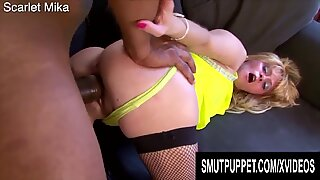 Smut Puppet - Granny Interracial Doggystyle Compilation Part 1