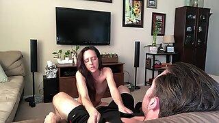 Stripp retsticka vänder sig till sugande och jävla