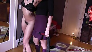 XDOMINANT 041 - HAIRY SLAVEGIRL IS FUCKED BY HER MISTRESS