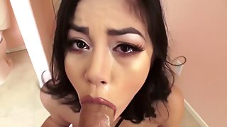 Asian whore throating