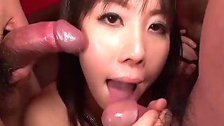 Sweet chinese creates ultra-kinky tremors with her humid oral