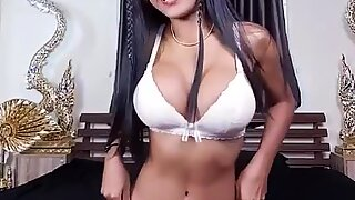 Joyful Chonticha playing with herself, energetic philipina with horny tits & horny butt