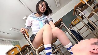 japanese school gril foot wroship part1